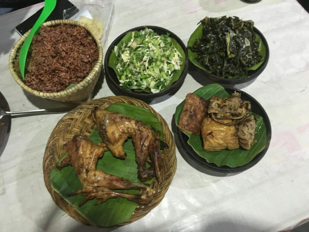 Heerlijke maaltijd in Yogyakarta