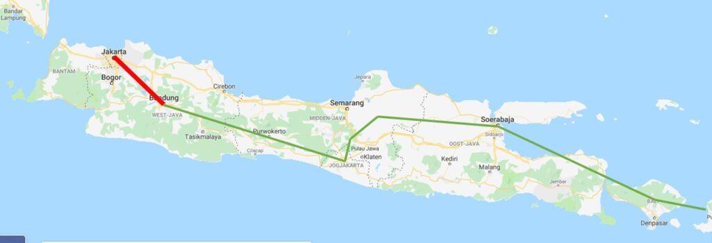 Reis door Indonesië - Jakarta - Bandung