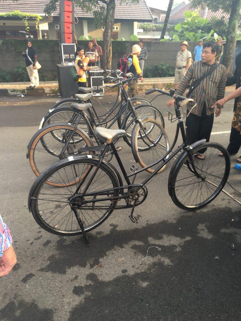 Tocht fietsen vooraan